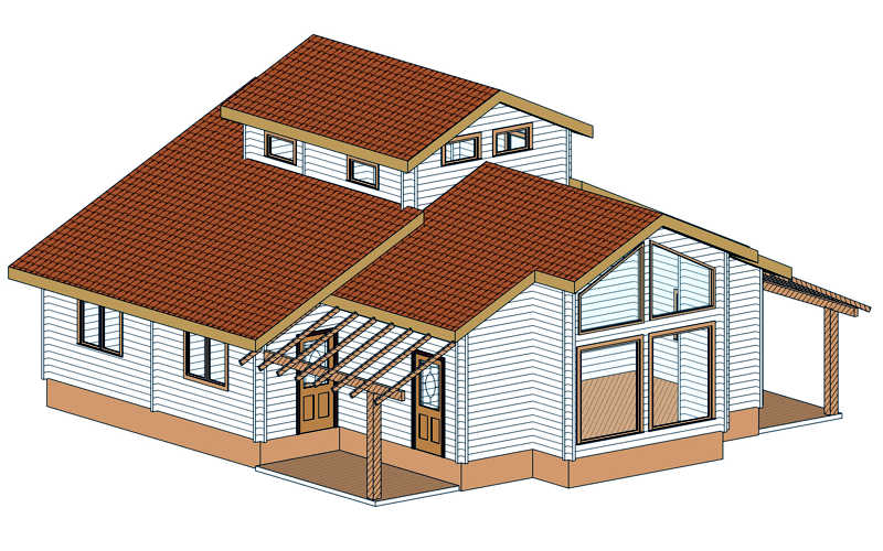 Casas de madera modelo tropical daype - Modelos casas madera ...