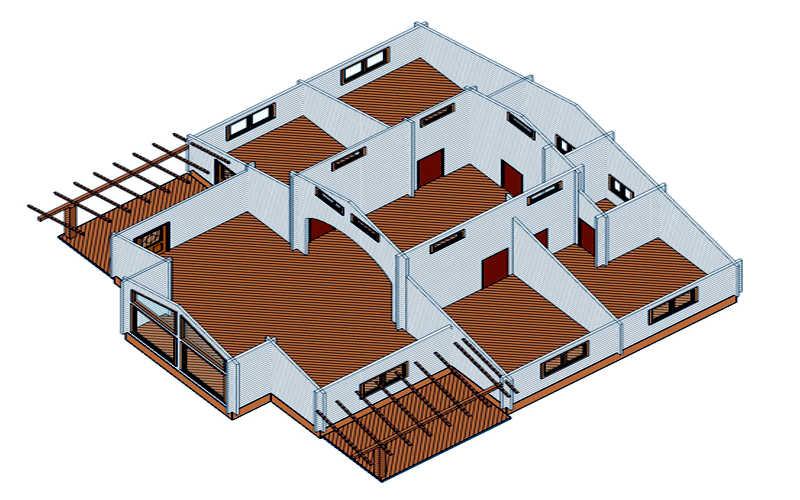 Casas de madera modelo tropical daype for Modelos de barcitos hecho en madera