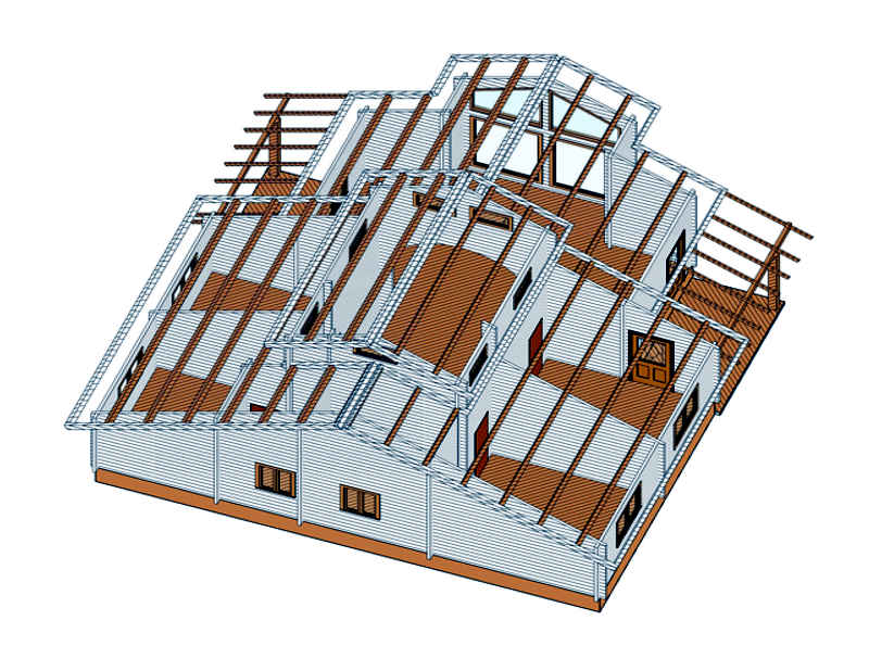 Casas de madera modelo tropical daype - Planos casa madera ...