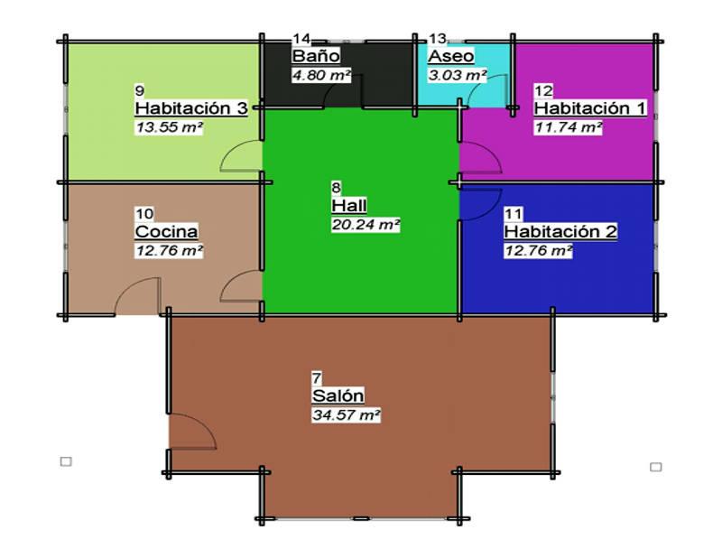 casas de madera modelo Tropical | DAYPE