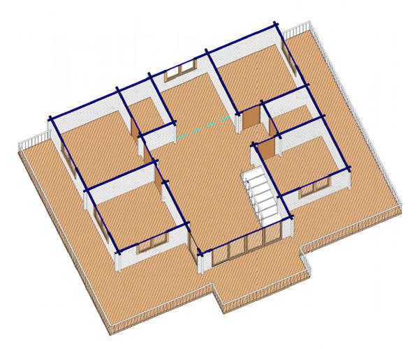 Casas de madera modelo valencia daype for Casas de madera valencia