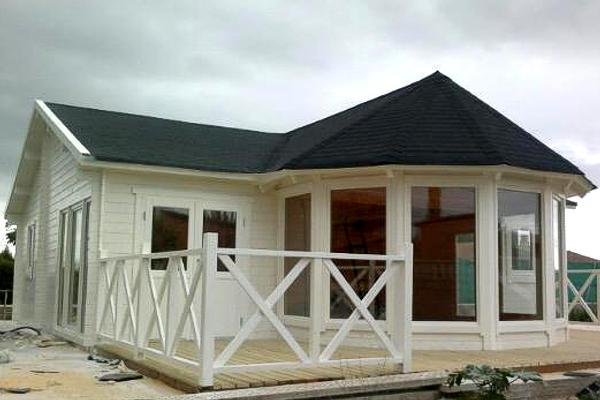 Casas de madera modelo vitoria 76 m2 daype for Precios cabanas de madera baratas