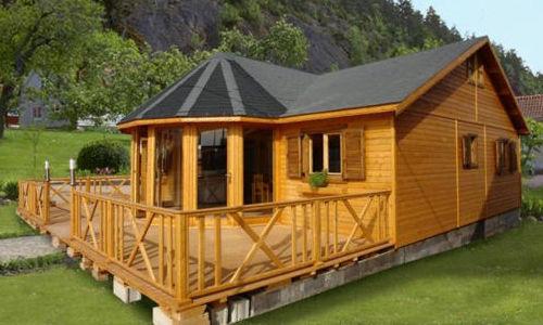 Casas de madera modelo vitoria 95 m2 daype for Tejado madera maciza
