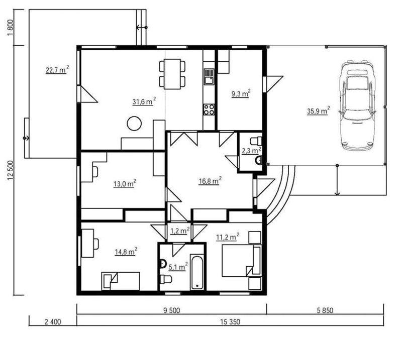 planos de casas 60 m2
