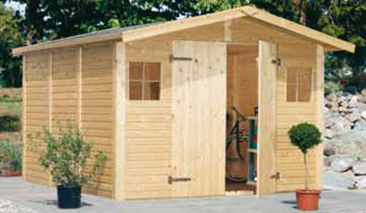 Casetas de jard n modelo christa daype for Casetas de madera para jardin baratas