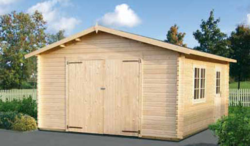 Casetas de jard n modelo garage 2 daype for Vendo caseta de madera para jardin