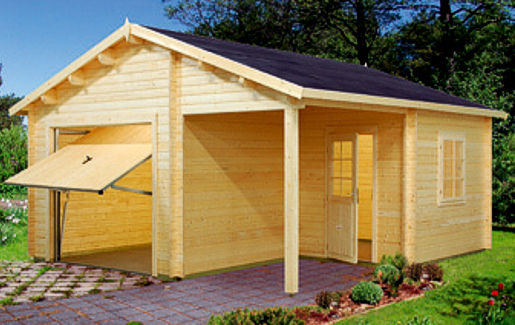 Casetas de jard n modelo garage 4 daype for Casetas jardin madera