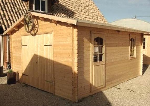 Garajes de madera venta e instalaci n modelo b for Garajes modelos