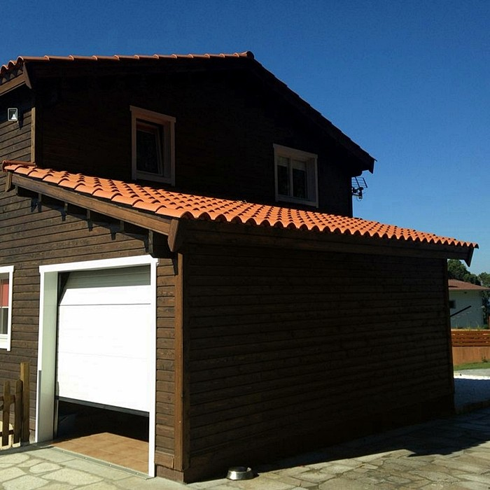 Proceso de montaje de elisa la guardia pontevedra daype - Casas de madera pontevedra ...