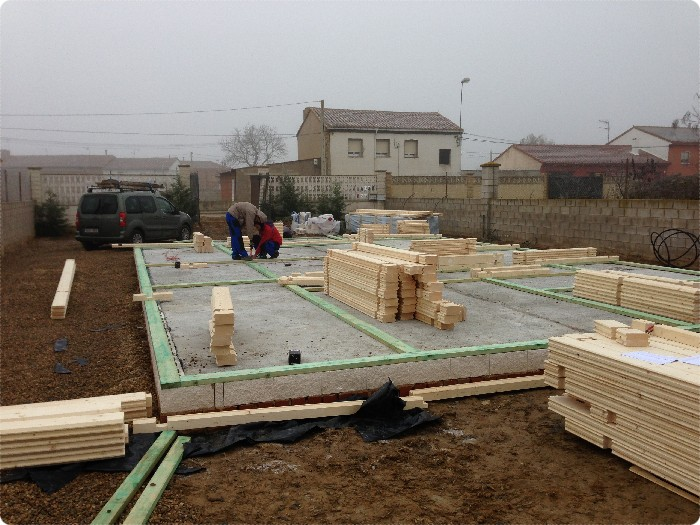 Proceso de montaje de fresno de la vega 122 m2 daype - Maderas daype ...
